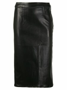 J Brand metallic-effect midi skirt - Black