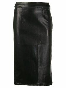 J Brand metallic-effect midi skirt - Black