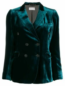 Kiltie fitted velvet blazer - Green