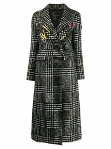 Ermanno Scervino embroidered long coat - White
