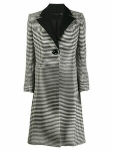 Alice+Olivia houndstooth single-breasted coat - Black