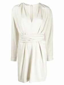 Stella McCartney gathered front dress - NEUTRALS