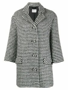 be blumarine houndstooth check coat - Black