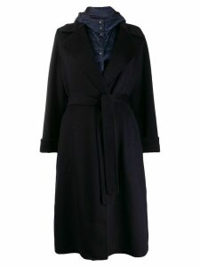 Peserico reversible feather down coat - Blue