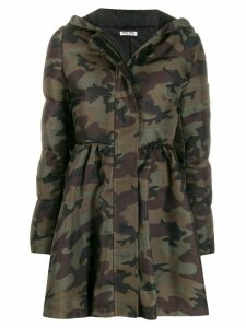 Miu Miu padded camouflage-print coat - Green