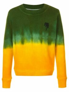 The Elder Statesman dyed palm tree jumper - Multicolour
