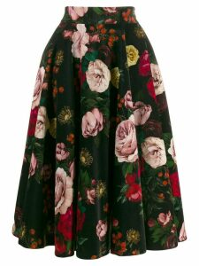 Dolce & Gabbana floral print pleated skirt - Black
