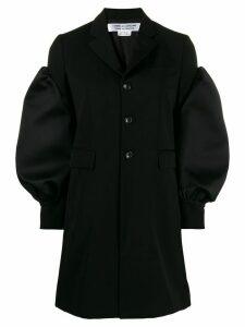 Comme Des Garçons Comme Des Garçons bulged-sleeve single-breasted coat