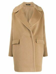 Tagliatore Astrid oversized coat - NEUTRALS