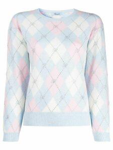Blumarine geometric-print jumper - Blue