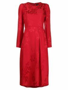 Etro floral-jacquard midi dress - Red