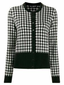Dolce & Gabbana button up houndstooth cardigan - Black