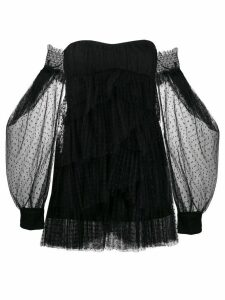 Wandering tiered tulle dress - Black