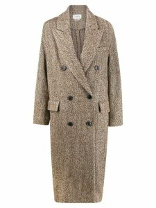 Isabel Marant Étoile speckled double-breasted coat - Brown