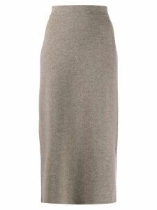 Agnona tube midi skirt - NEUTRALS