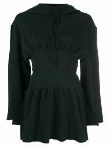 Ann Demeulemeester hooded corset dress - Black