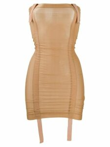 Charlotte Knowles fitted strapless mini dress - Brown