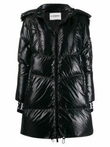 Iceberg hooded down coat - Black