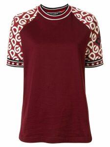 Dolce & Gabbana logo-print sleeves T-shirt - Red
