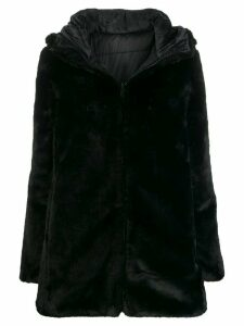 Save The Duck reversible faux fur coat - Black