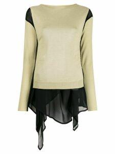 Pierantoniogaspari contrasting-hem layered jumper - Neutrals