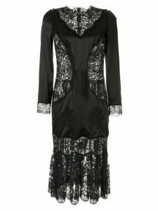 Dolce & Gabbana sheer lace panels dress - Black