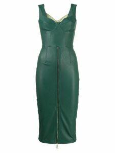 Elisabetta Franchi faux leather pencil dress - Green
