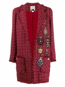 Edward Achour Paris metallic-thread tweed coat - Red