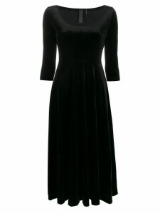 Norma Kamali scoop-neck flared dress - Black