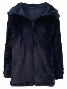 Save The Duck reversible faux fur coat - Blue