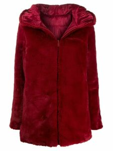 Save The Duck reversible faux fur coat - Red