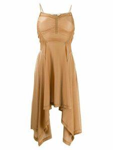 Charlotte Knowles draped dress - Brown