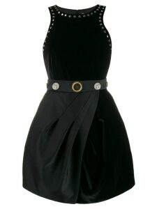 Fausto Puglisi embossed button studded dress - Black