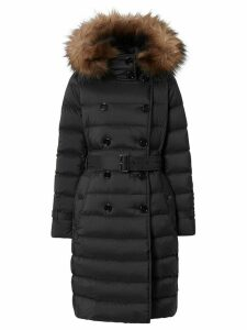 Burberry detachable hood padded coat - Black