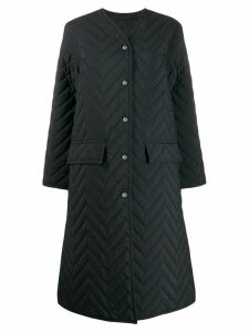 Acne Studios single-breasted quilted coat - Black