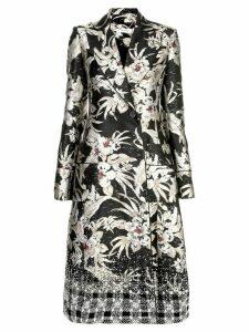 Altuzarra Boyd embroidered floral print coat - Black