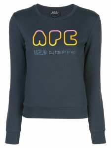 A.P.C. logo print jumper - Blue