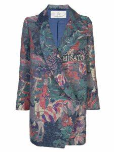 Tsumori Chisato floral print coat - Blue