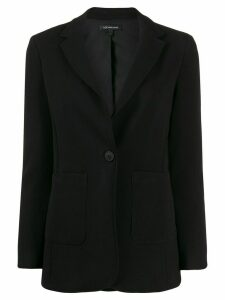 Armani Exchange fitted single-breasted blazer - Black