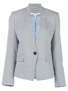 Veronica Beard Farley houndstooth dickey blazer - Blue