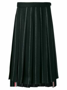Thom Browne Shadow Stripe Flannel Skirt - Blue