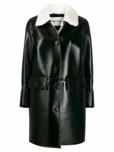 STAND STUDIO Gaia faux-fur collar coat - Black