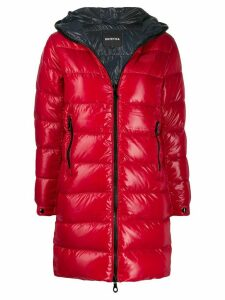 Duvetica Tyl hooded down coat - Red