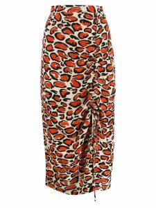 Essentiel Antwerp leopard print pencil skirt - Neutrals