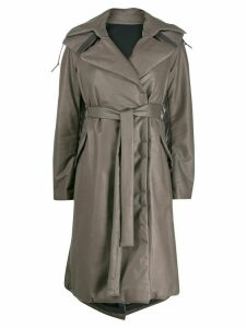 Isaac Sellam Experience padded oversized trench coat - Grey