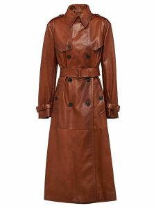 Prada Nappa leather trench coat - Brown