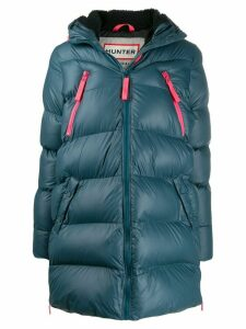 Hunter hooded quilted coat - Blue