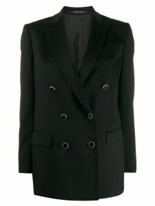 Tagliatore fitted double-breasted blazer - Black