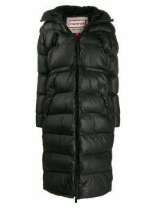 Hunter hooded quilted coat - Black
