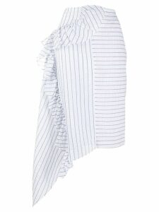 Jourden Lolita striped bias skirt - White